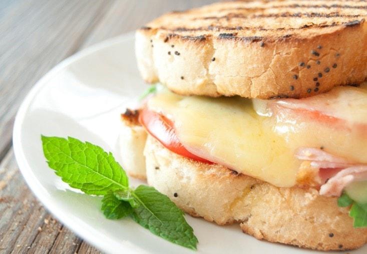 Breakfast Turkey Melt Sandwich