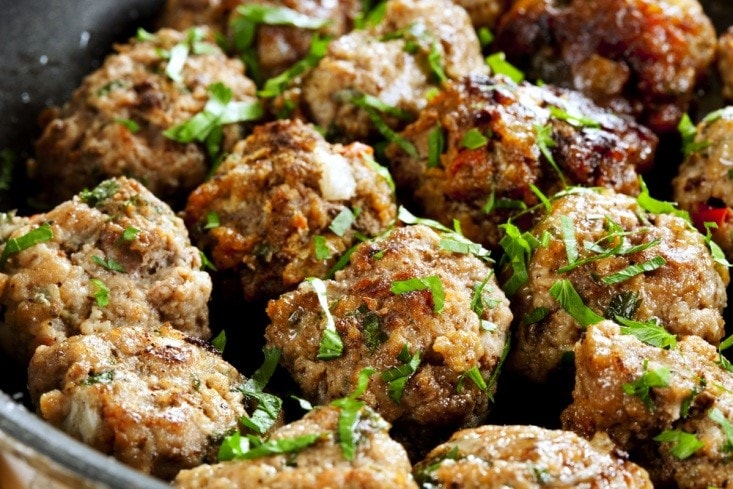 Air Fried Meatballs with Parsley