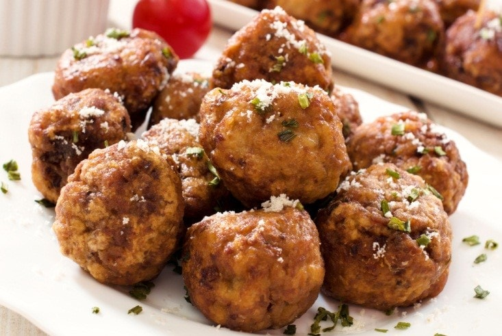 Herbed Parmesan Turkey Meatballs