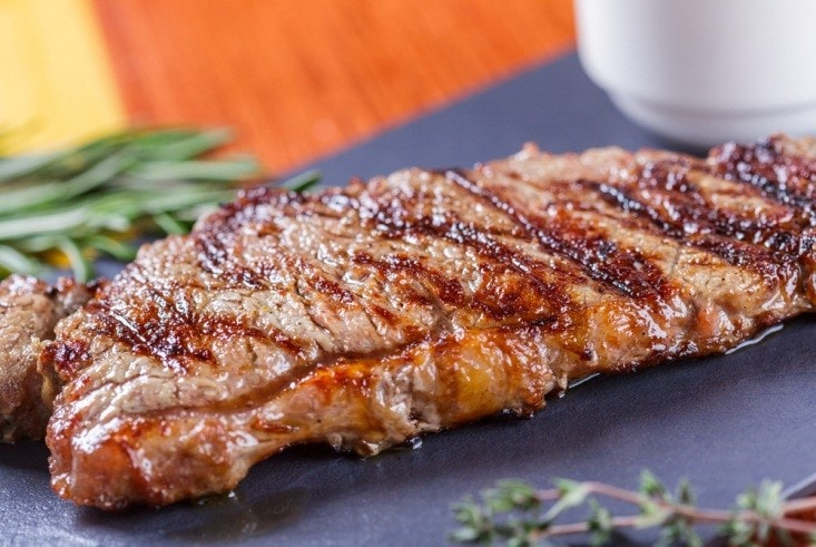 Sirloin with Garlic and Thyme
