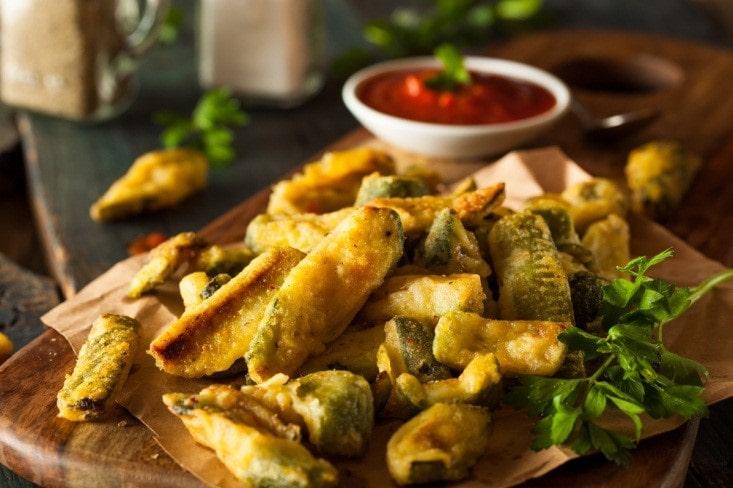 Zucchini Wedges with Marinara Sauce
