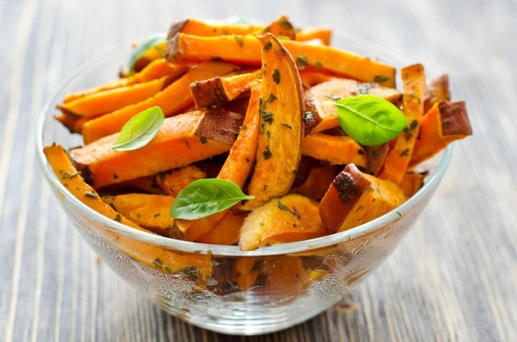 Sweet Potato Fries with Basil